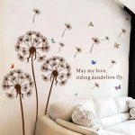 Dandelions-flowers-removable-Free-shipping-wall-decor-wall-stickers-vinyl-s(1)